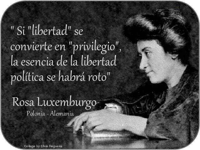 ROSA LUXEMBURGO: La flor más brillante del movimiento socialista internacional.