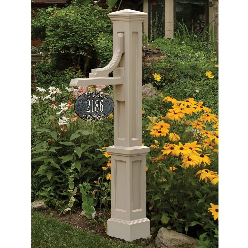 Woodhaven Address Sign Post In Clay House Number Plaque