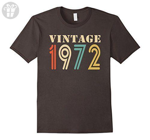 Mens Vintage 1972 - 45th birthday gift shirt Large Asphalt - Birthday shirts (*Amazon Partner-Link)