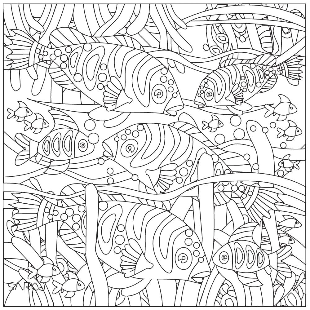 Pin de Barbara en coloring fish | Pinterest