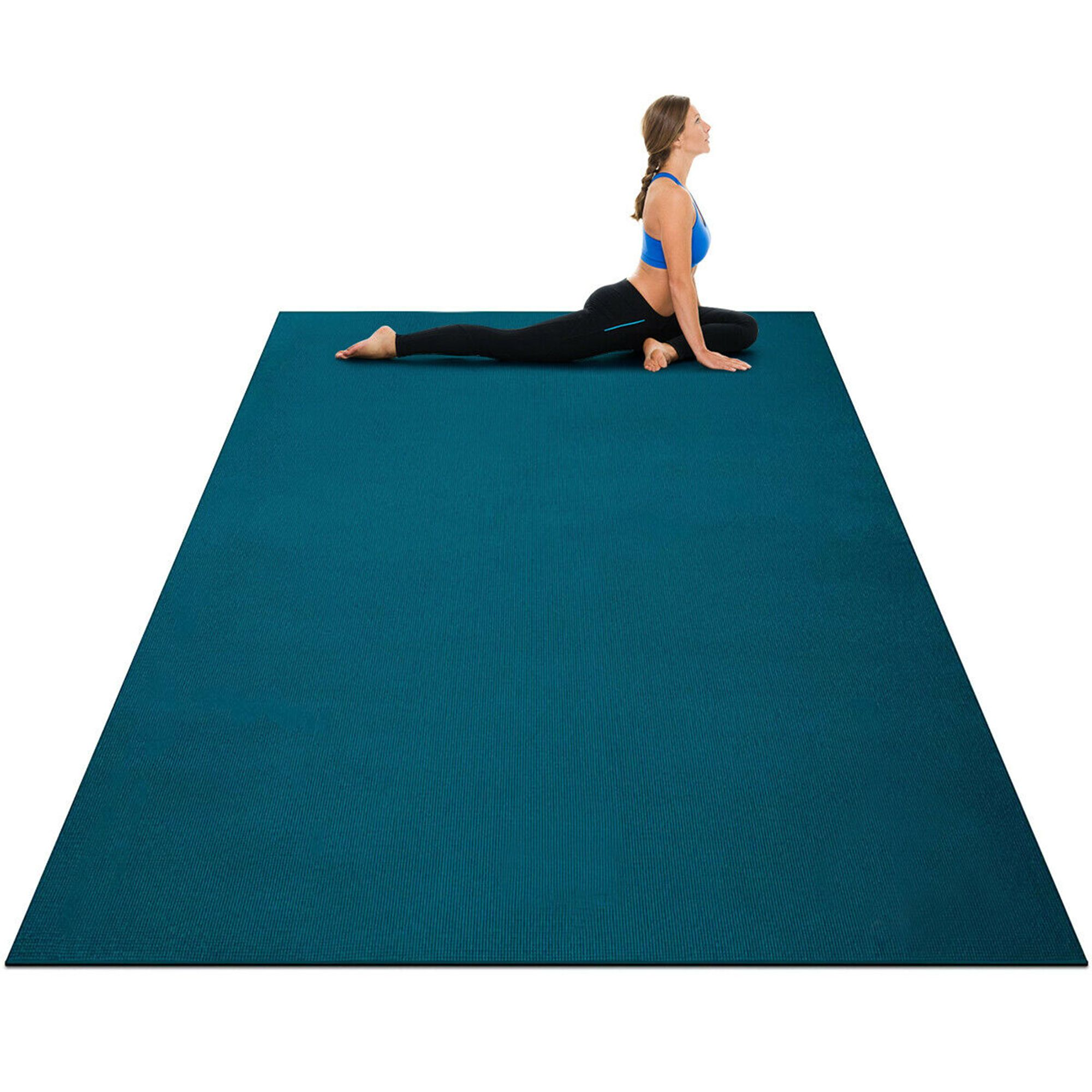 Free 2 Day Shipping Buy Gymax Large Yoga Mat 7 X 5 X 8 Mm Thick Workout Mats For Home Gym Flooring At Wa In 2020 Large Yoga Mat Home Gym Flooring