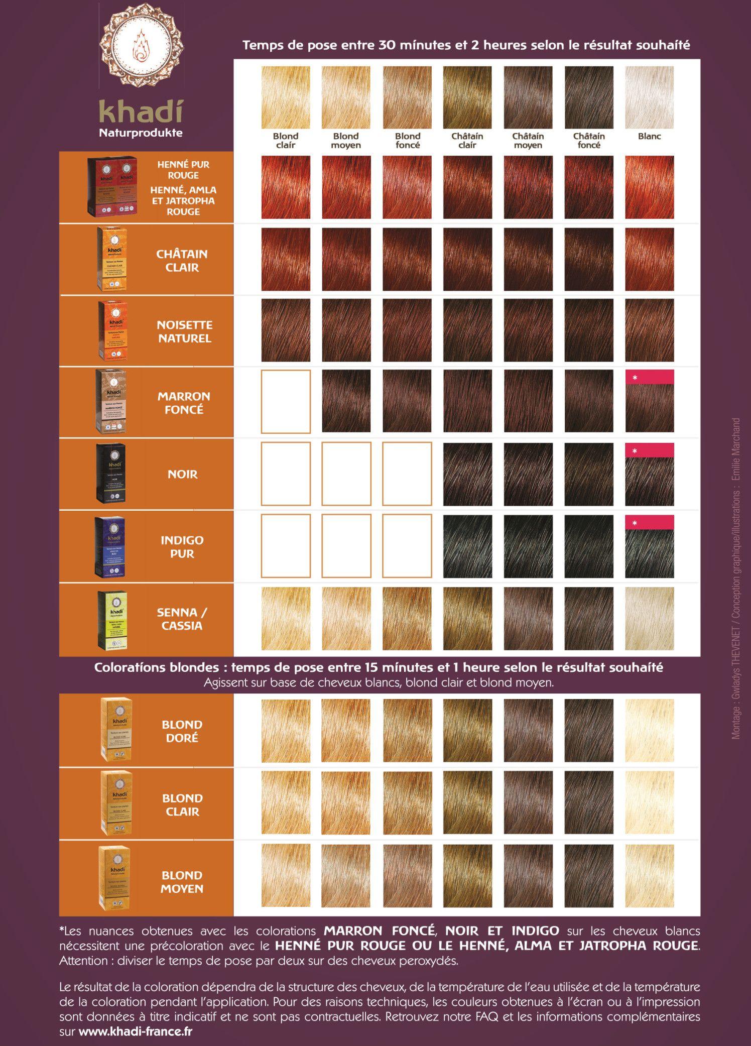 Nuancier Khadi En 2020 Nuancier Coloration Khadi Coloration Et
