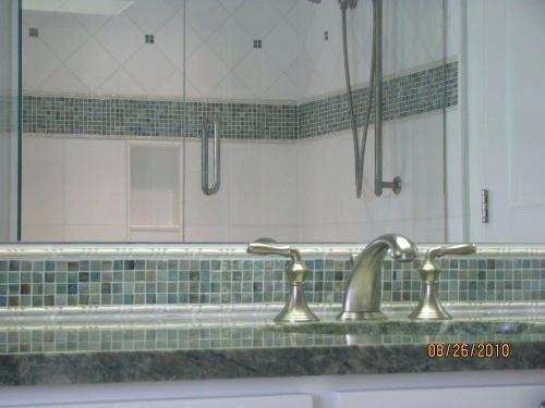 Bathroom Border Tiles Bathroom 3 Marble Tub Surround With Glass Tile
