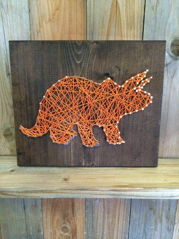Dinosaur String Art   String Art   Dinosaur Decor   Dino Sign   Decor For Boys  Room   Nursery Decor   Boyu0027s Decor   Dinosaur Gift