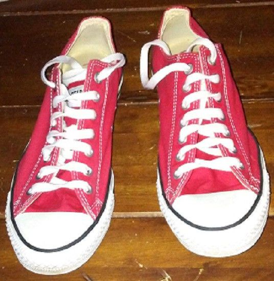 45f9b6c06018 Converse All Star Red Lace Up Unisex Size 10 Men