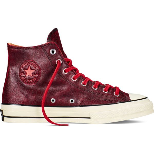 Converse Chuck Taylor All Star '70 Cracked Leather – black/black alley... ($100) ❤ liked on Polyvore featuring shoes, sneakers, converse shoes, vintage sneakers, star shoes, vintage shoes and kohl shoes
