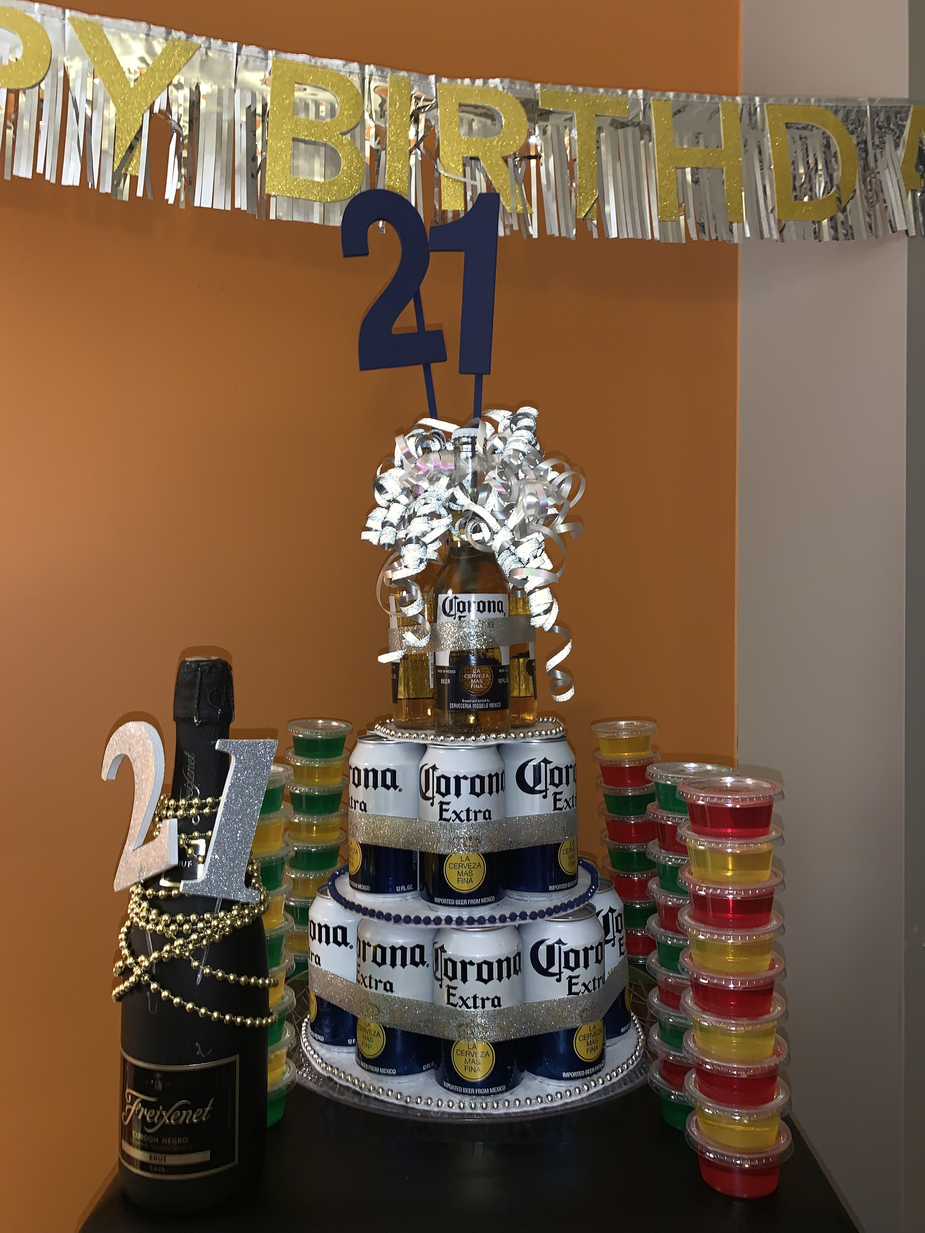 21 Twenty First Birthday Gift Beer Tower Alcohol For Him Beer