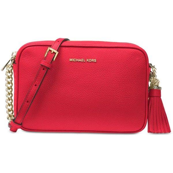 b6d4127a73e820 Michael Michael Kors Ginny Medium Camera Bag (430 PEN) ❤ liked on Polyvore  featuring accessories, tech accessories, bright red, camera bag and michael  kors