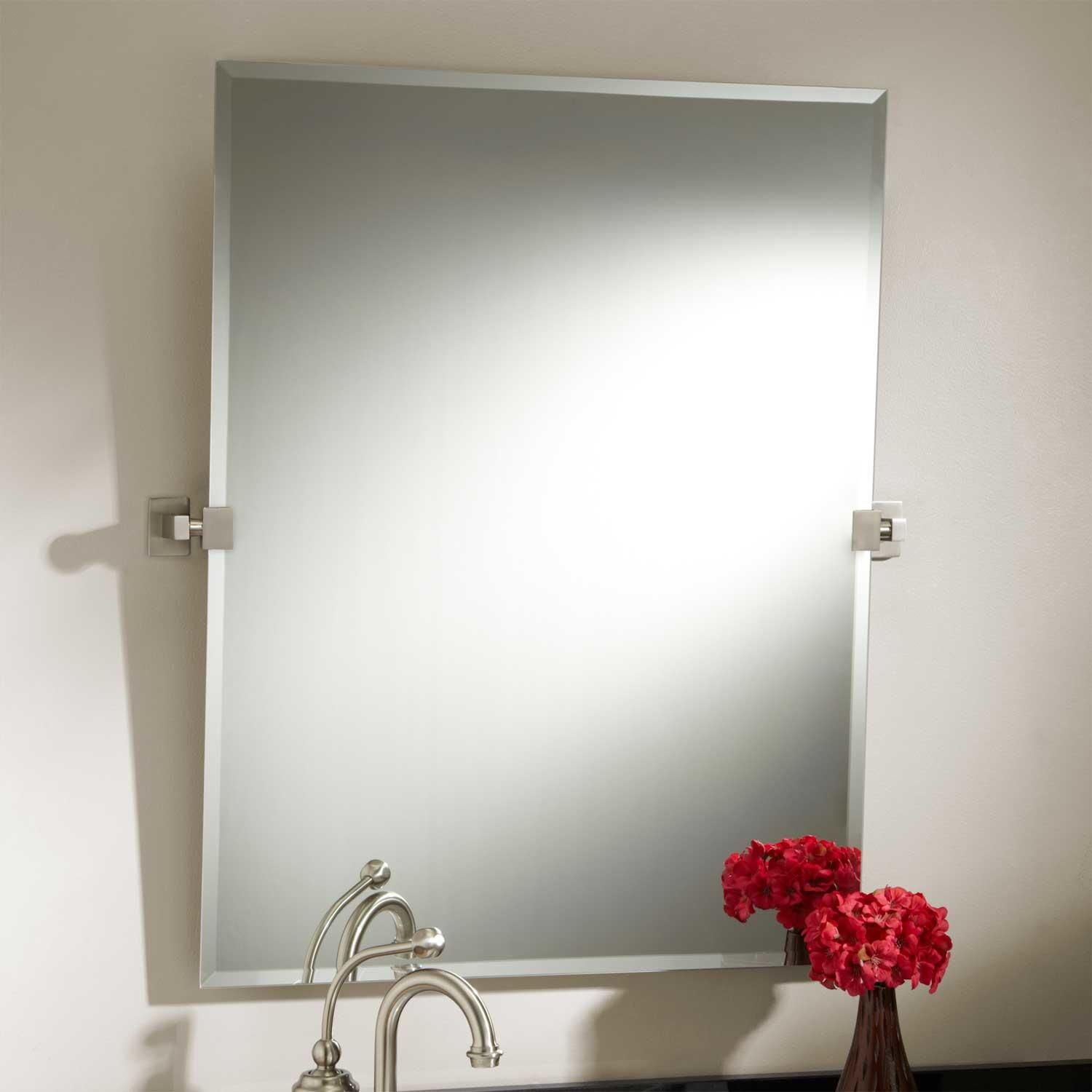 Decorative Brushed Nickel Mirror 19