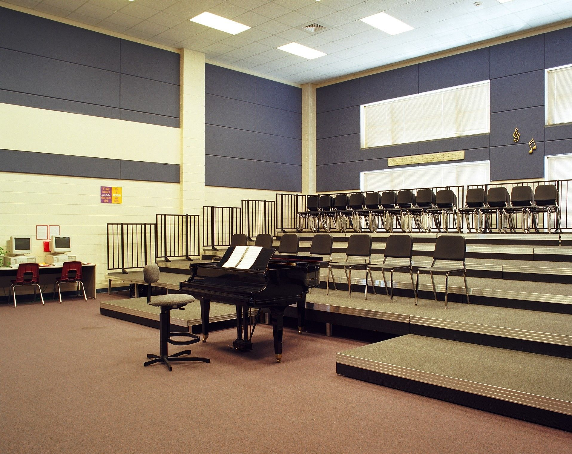 Music Classroom Decoration : The cut away in risers would be good if there was no