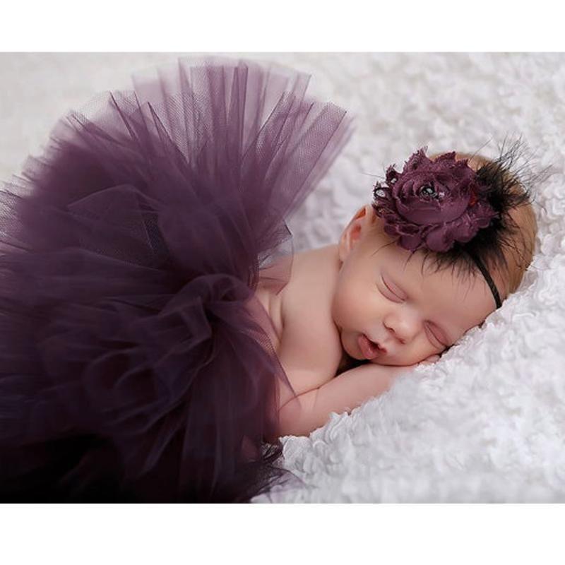 Newborn Photography Props Baby Handmade Princess Tutu Skirt Headband Beanie Beaded Cap Photo Props Accessories