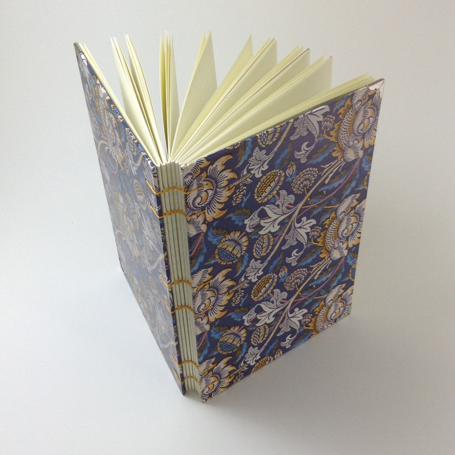 Medium Coptic-Stitched Notebook (Lined Paper) by sextonscottagebooks on Etsy