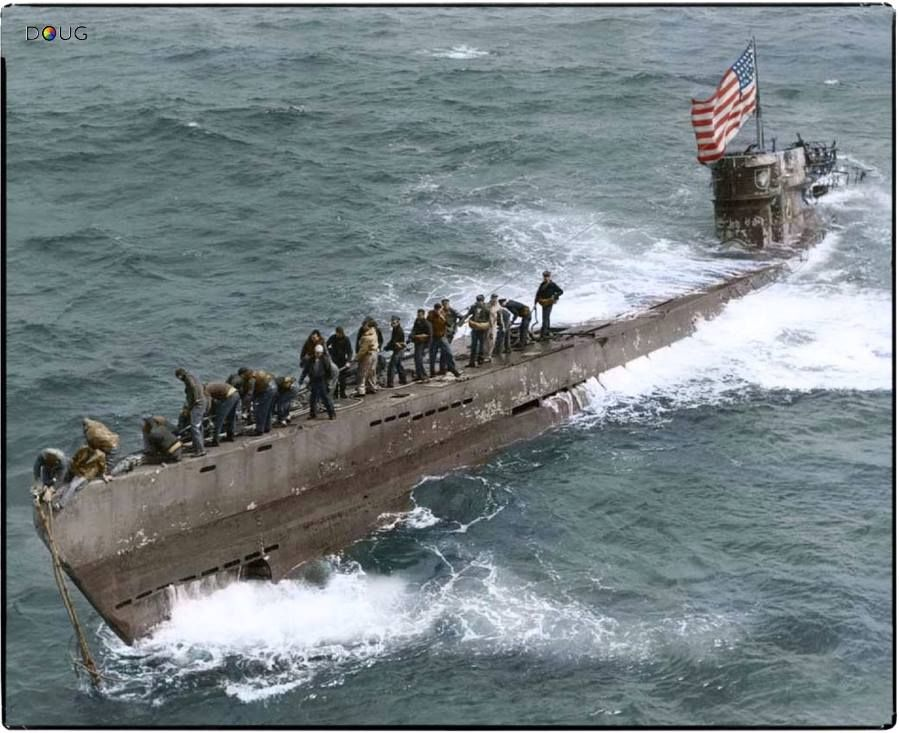 The German Submarine U 505 Type Ixc Captured At Sea Off The Coast Of Rio De Oro Western Sahara West Africa On The 4th German Submarines Boat World War Two