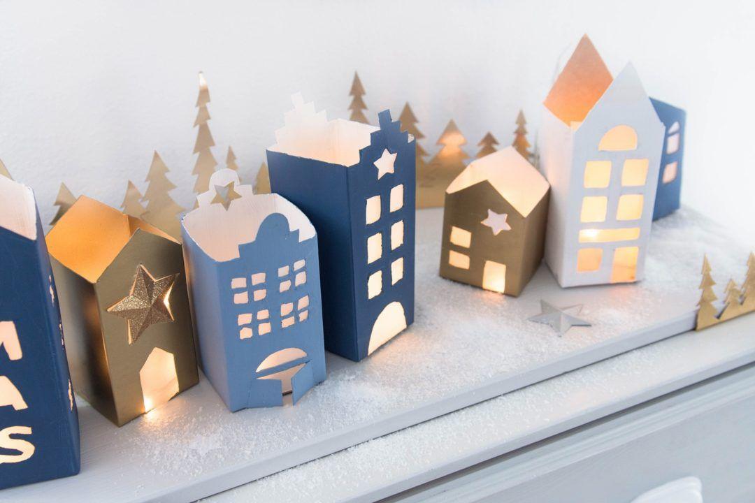 Photo of Weihnachtliche Lichthäuser aus Milch- und Saftkartons – Sinnenrausch – Der kreative DIY Blog für Wohnsinnige und Selbermacher