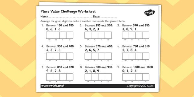 place value challenge worksheet year 4 number and place value place values worksheets places. Black Bedroom Furniture Sets. Home Design Ideas