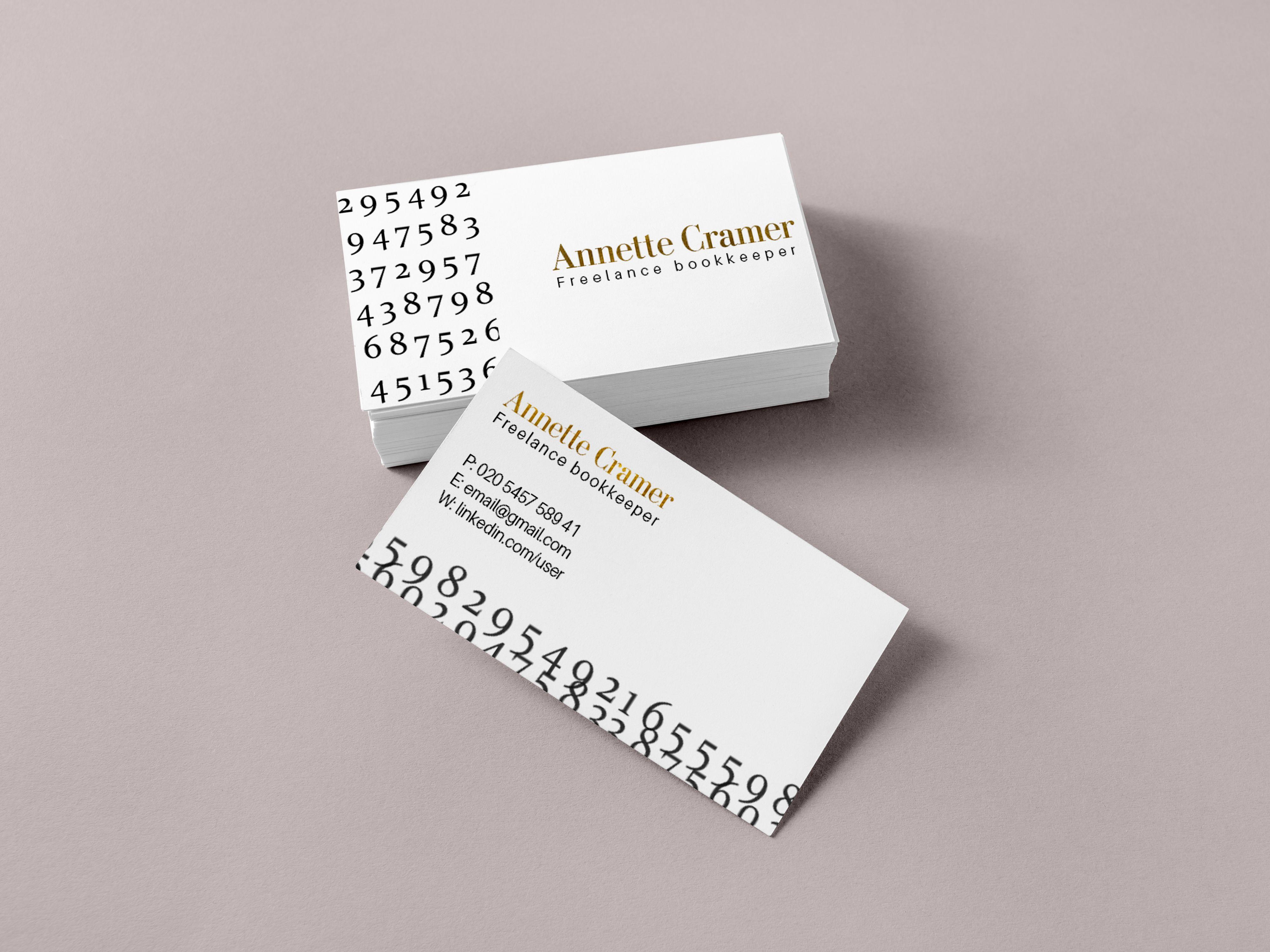 Upwork Freelancer Business Card Design Folded Business Cards Unique Business Cards