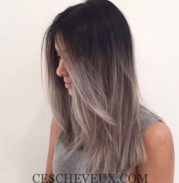 width gris ombre coiffure hair color cheveux id e. Black Bedroom Furniture Sets. Home Design Ideas