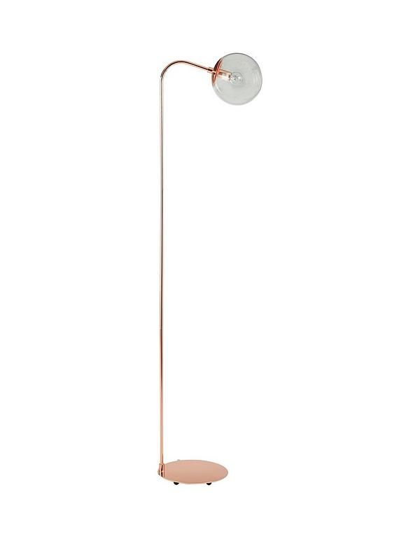 Ideal home carter copper orb floor lamp floor lamp glass shades and bulbs