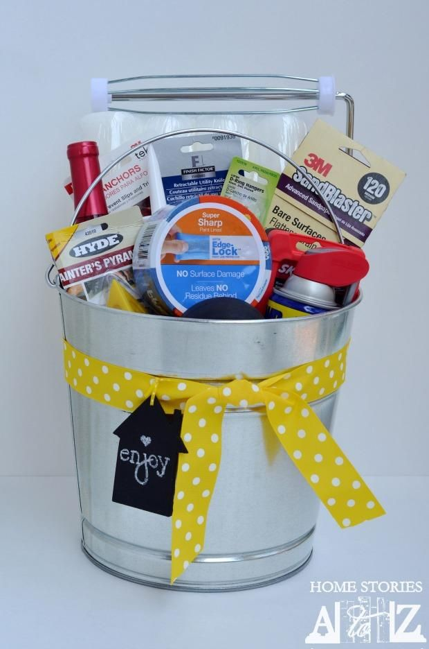 Housewarming Bucket Gift Idea Bucket Gifts House Warming Gifts Homeowner Gift