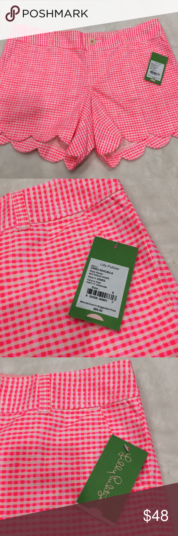 🆕Lilly Pulitzer Buttercup Shorts Fiesta Pink $68