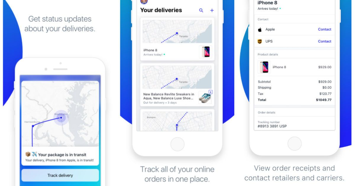 Shopify's Arrive app tracks your online orders on a live