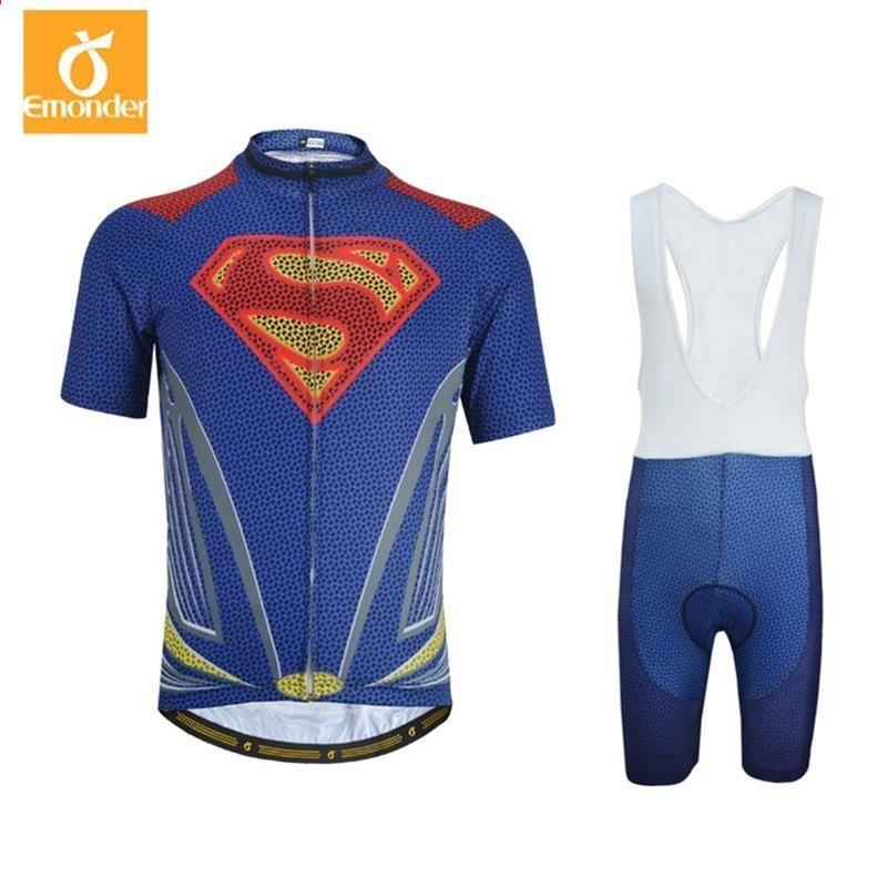Super Hero Iron man Superman Spiderman Batman ciclismo jersey uomo breve    lungo abbigliamento ciclismo roupa cb6ae20d1