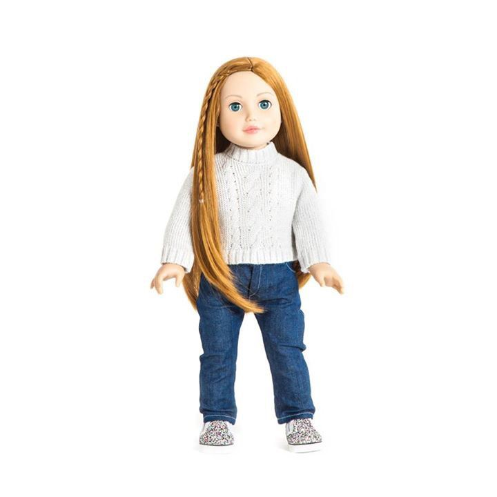 Miss Julia  She has red hair, light skin and blue eyes. One of our twelve dolls. #missminime#missminimedoll#missminimedolls#missjulia#redhaired#blueeyed#beautiful#qualitydoll#girl#musthave#doll