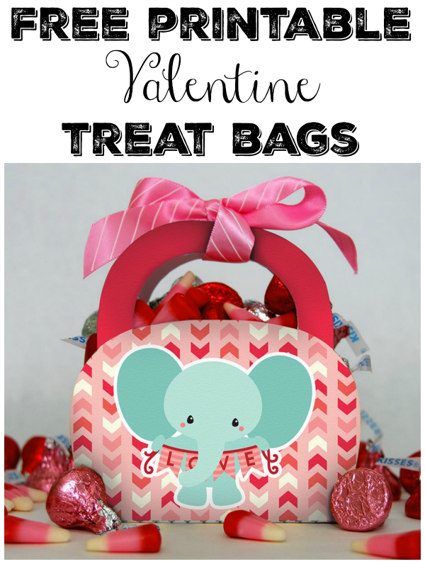 This free printable Valentine treat bags are adorable and perfect ...