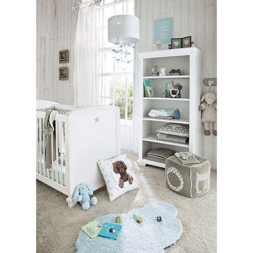 baby gitterbett mit sternmotiv wei l131 biblioteca infantil bibliotecas y madera. Black Bedroom Furniture Sets. Home Design Ideas