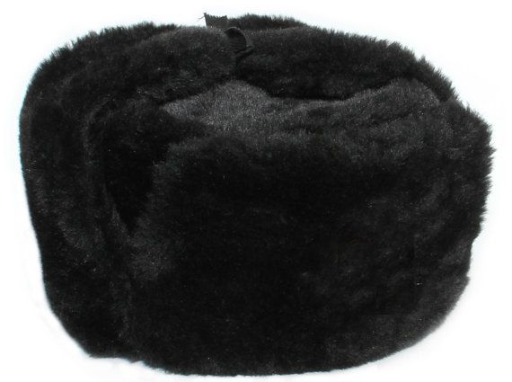Winter Ushanka Hat without Badge Color Black by Vectorpattern ... 68bc61206cc