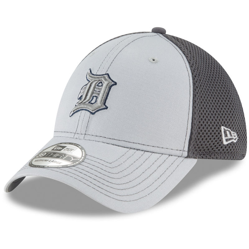 reputable site 9b4c1 07a09 Detroit Tigers New Era Grayed Out Neo 39THIRTY Flex Hat - Gray
