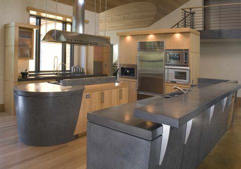 Cocina de concreto cocinas con fuerza y solidez cocinas for Cocinas de cemento