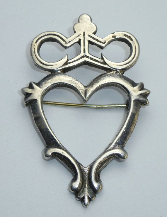 Argent Sterling Luckenbooth Broche