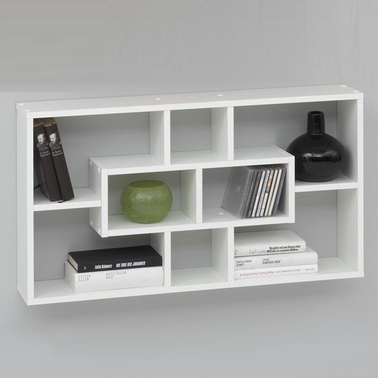 40 W85cm Http Www Furnitureinfashion Le Bookcase Wall Shelves In White With Compartments P 6629 Html