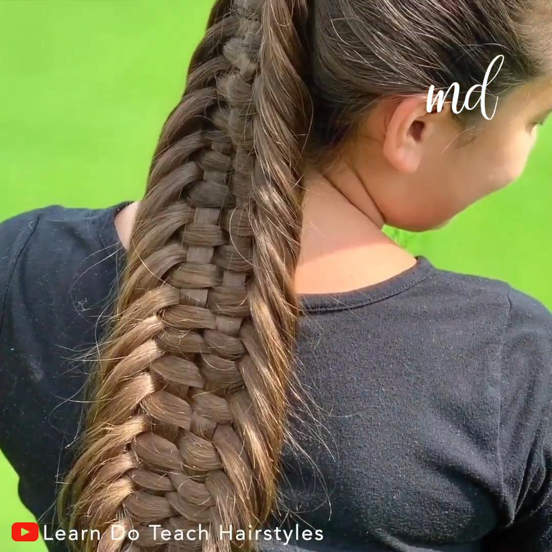 Dutch Woven Loop Braid Video Hair Styles Hair Braid Videos Thick Hair Styles