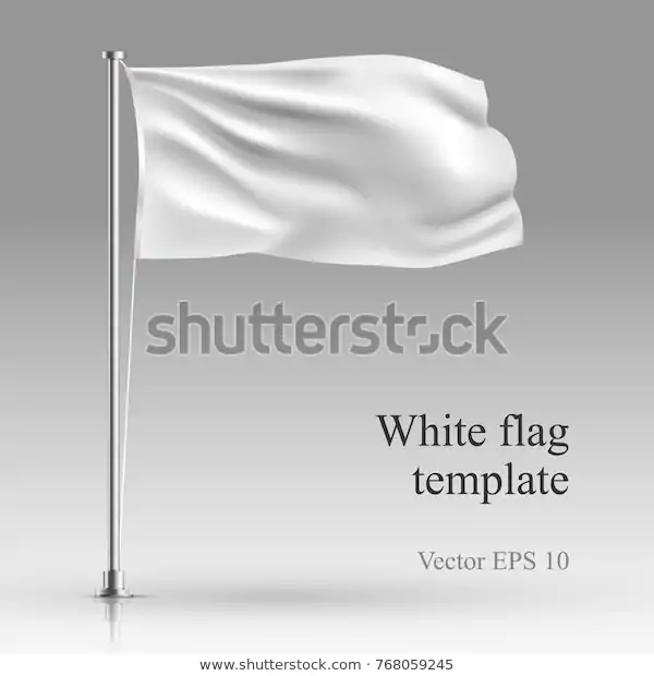 White Flag Stand On Steel Pole Stock Vector Royalty Free 768059245 Flag Stand White Flag Royalty Free