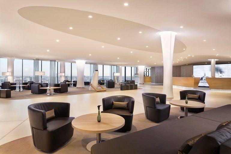 Westin Hamburg Opens In Herzog De Meuron S Brand New Elbphilharmonie Building Property Design Hotel Lobby Commercial Interior Design