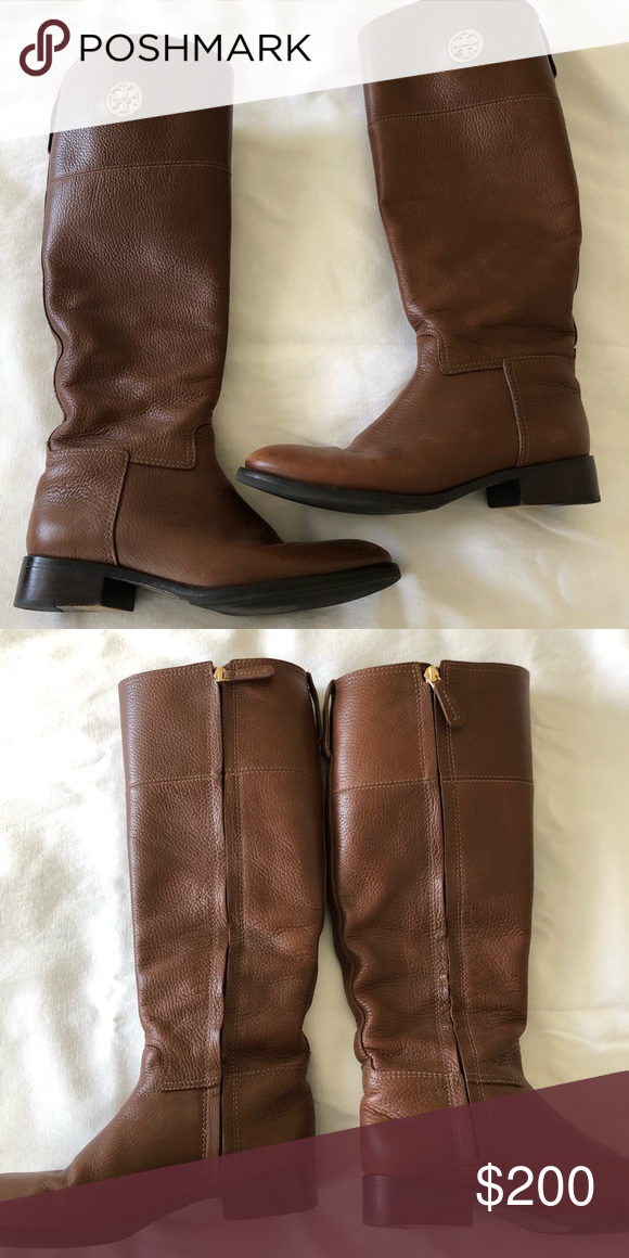 64d75fee2ba Tory Burch Riding Boots Barely worn