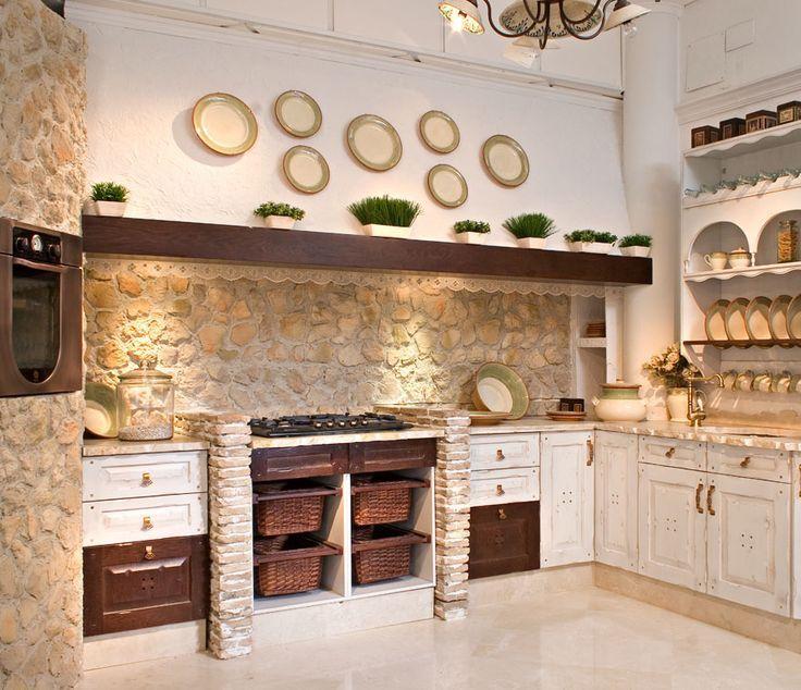 Resultado de imagen de cocina rustica lacada casas de - Cocinas de campo ...