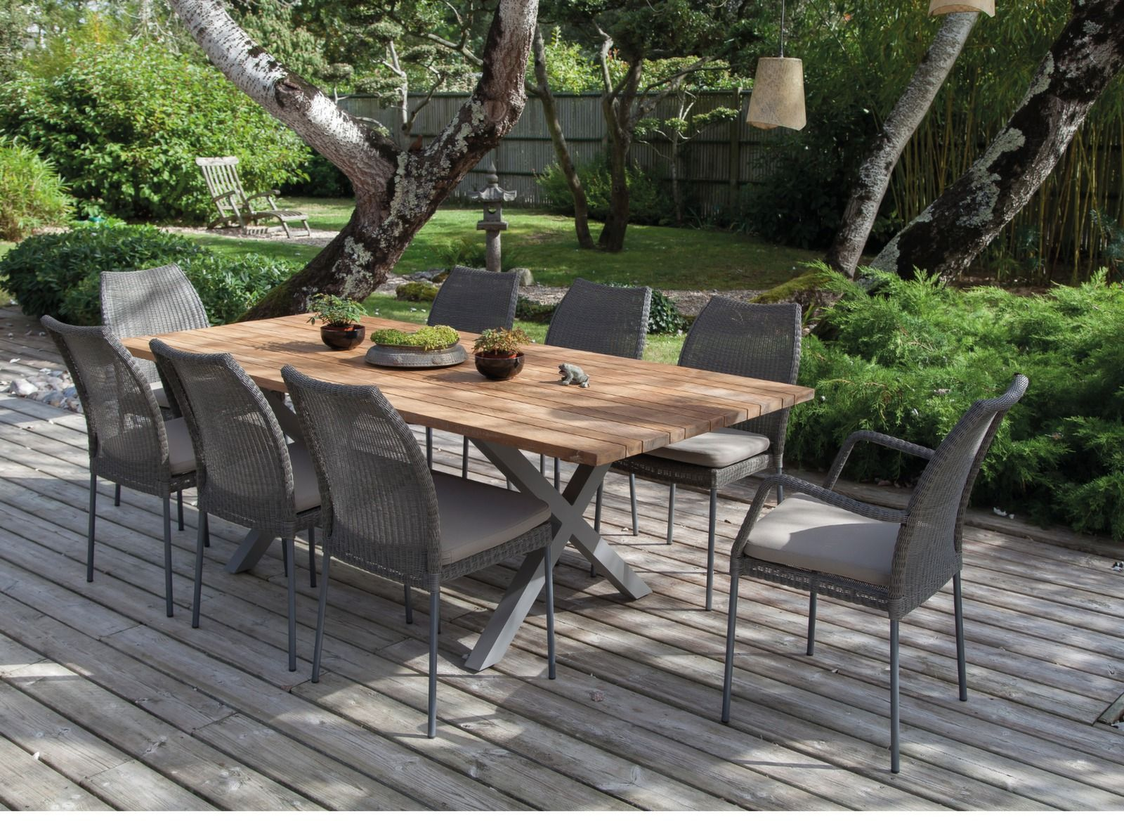 Table Exterieur Industriel Table Crossway Teck 220 Cm Table Jardin Meubles De