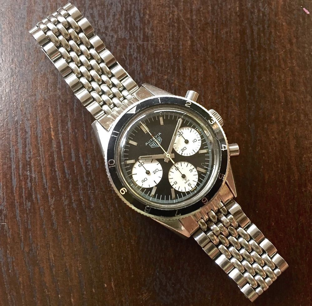 Chronograph Dive Vintage Watch 19mm Beads Of Rice Bracelet 1960s 70s Steel Nos Ebay