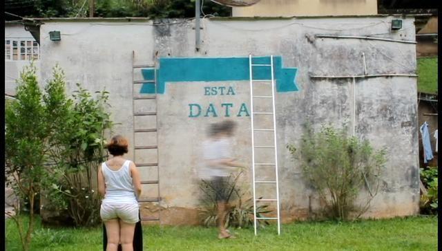 Estela e Rafael  - Save The Date - painting, graffiti wall