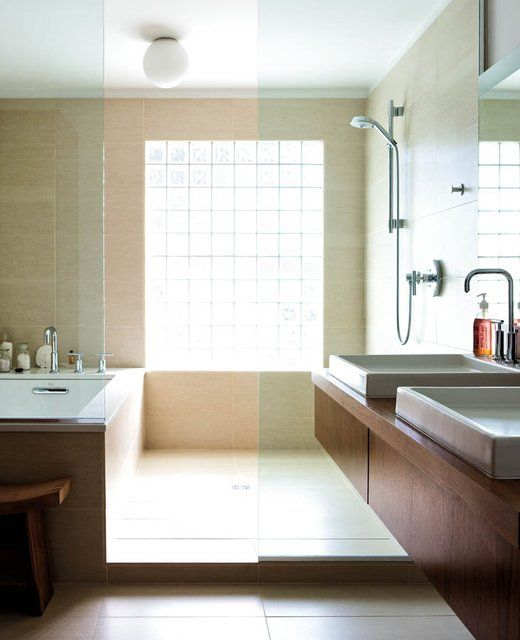 bathtub inside shower and sinks. kansas city spaces magazine   decor