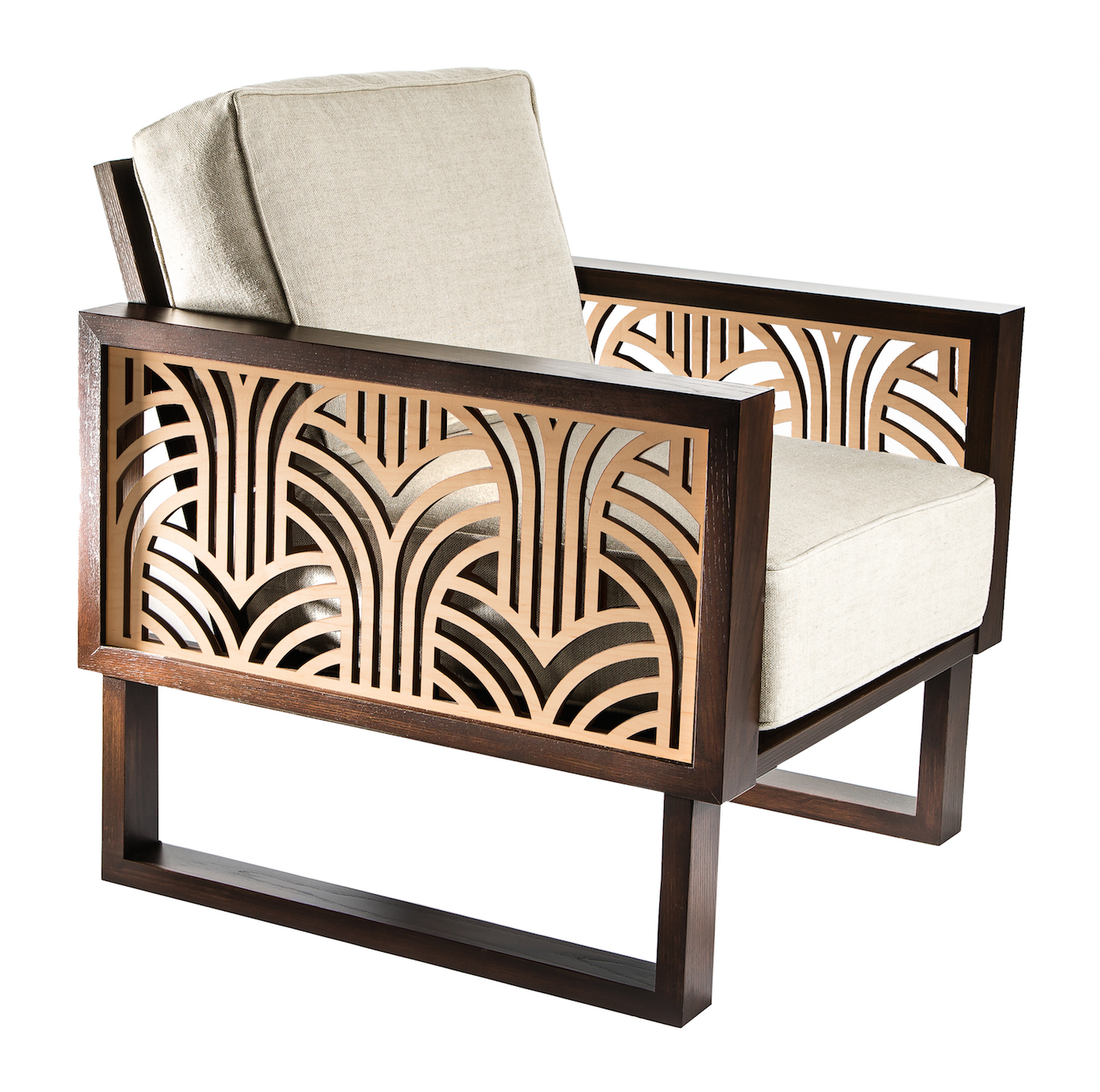 Twist Modern Art Deco Lounge Chair Elledecor
