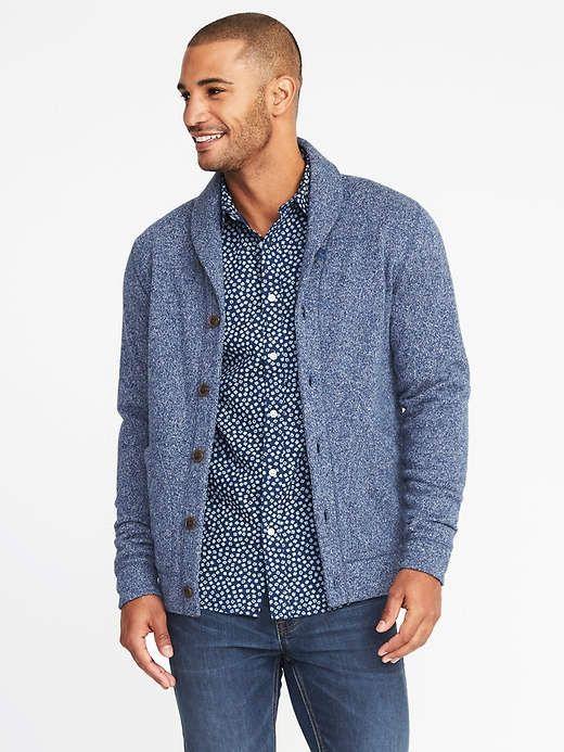 88fd48b3e40 Old Navy Shawl-Collar Sweater-Knit Fleece Cardigan for Men