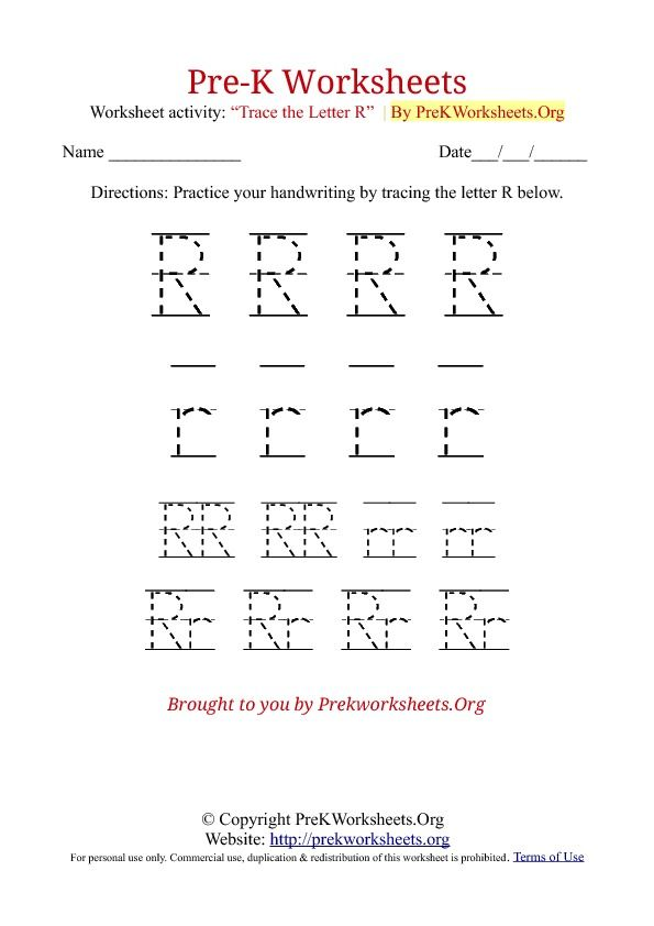 pre k tracing worksheet r click to find the rest fun educational stuff for kids pre k. Black Bedroom Furniture Sets. Home Design Ideas