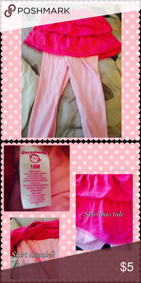Garanimals tule skirt with leggings Girls Garanimals tule skirt with leggings. Size 18 months. Garanamals Bottoms Leggings
