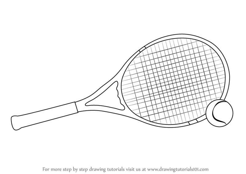 Learn How To Draw Tennis Racket And Ball Other Sports Step By Step Drawing Tutorials In 2020 Tennis Racket Tennis Rackets