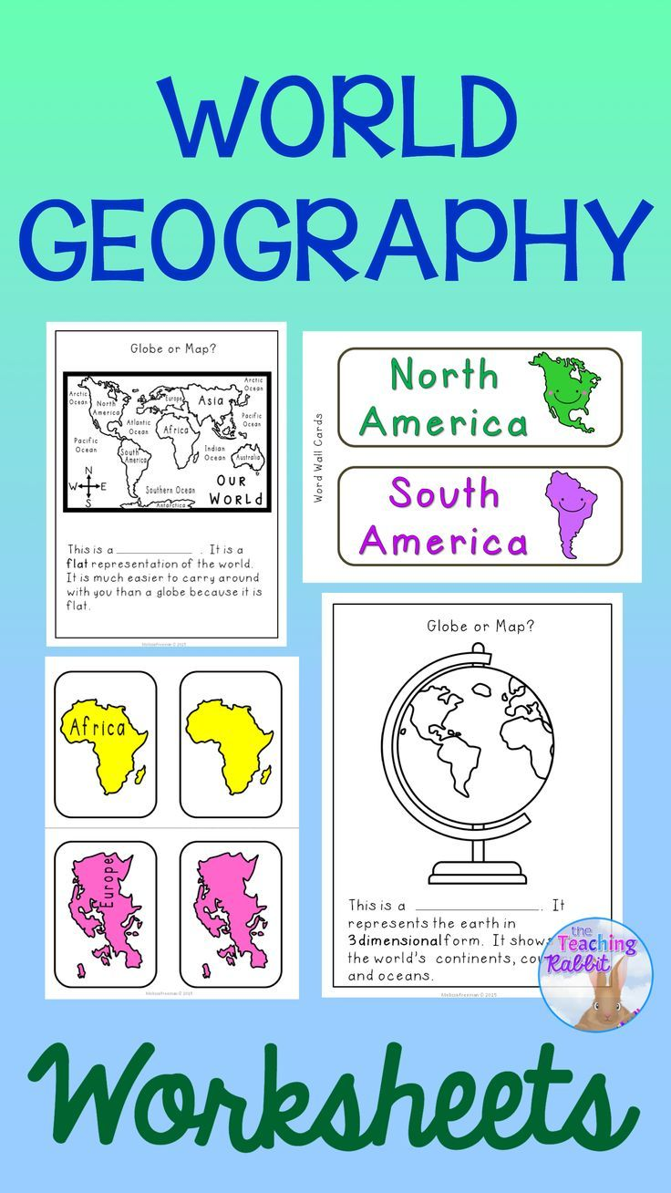 Worksheets World Geography Worksheet world geography worksheets tpt misc lessons pinterest use these to teach primary grades about the globe maps oceans and continents socialstudies