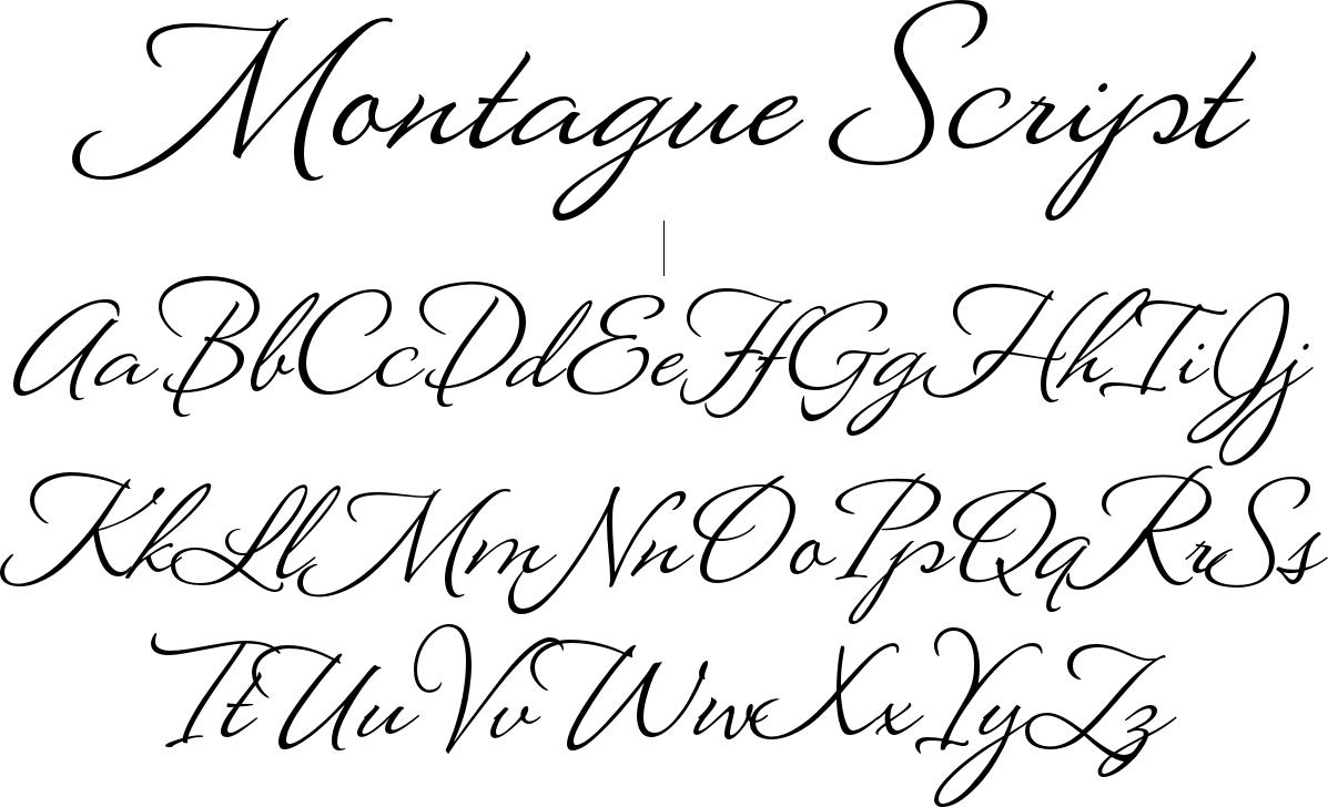 Montague Script Font For Tattoo